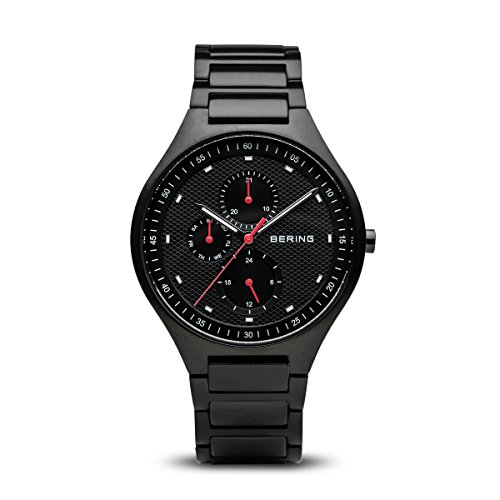 BERING Time 11741-772 Mens Titanium Collection Watch with Titanium Band and Scratch Resistant Sapphire Crystal. Designed in Denmark.