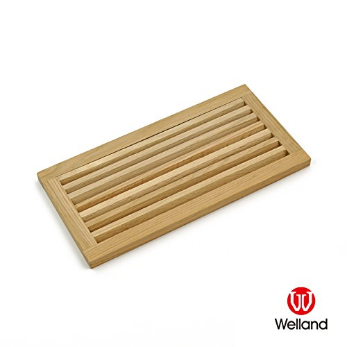 (WELLAND 16 X 8 Inch White Oak Wood Register Cold Air Return Wall Vent Unfinished, 3/4