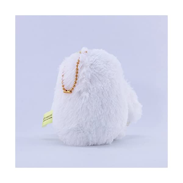 Amuse Sloth Plush Namakemono Mikke Matarri White With Flower - Sloth Plush Ball Keychain 3.9&Quot; Height - Authentic Kawaii From Japan -