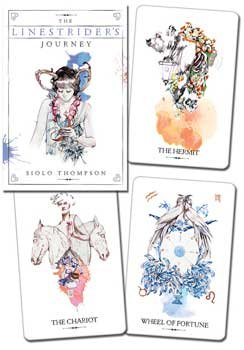 Party Games Accessories Halloween Séance Tarot Cards Linestrider tarot deck & book by Siolo (Halloween Spirit Board Game)