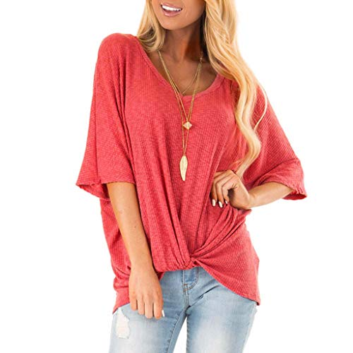Witspace Fashion Women's Sexy V-Neck Short Sleeve Tops Shirts Blouse ()