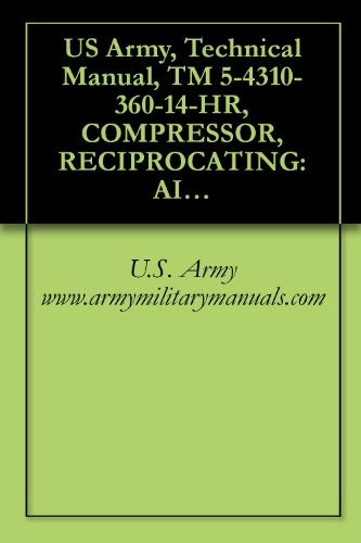 360 Cfm Air - US Army, Technical Manual, TM 5-4310-360-14-HR, COMPRESSOR, RECIPROCATING: AIR, HAND TRUCK MOUNTED, GASOLINE EN DRIVEN, 5 CFM, 175 PSI, (C&H DISTRIBUTORS ... military manauals, special forces