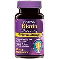 Natrol Biotin Maximum Strength Tablets, 10,000mcg ,...