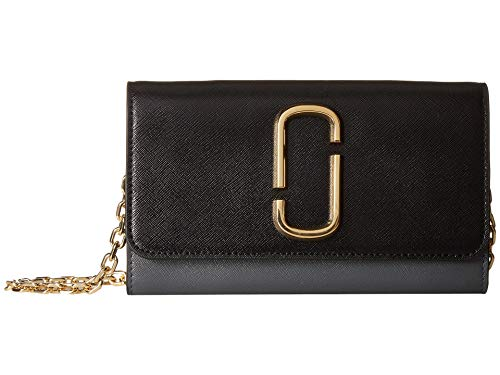 Marc Jacobs Women's Snapshot Wallet on Chain, Black Multi, One Size