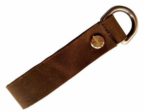 MEEBOY handmade Snap Loop and Key Ring Combination genuine Leather Keychains Leather Strap Keyring