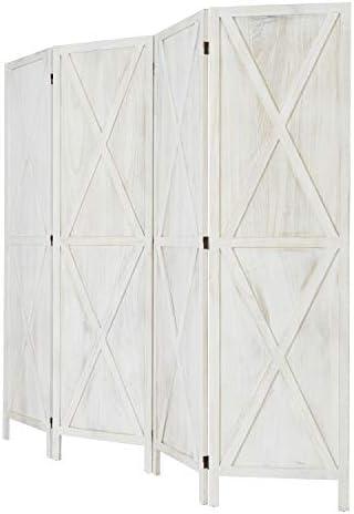 Room Divider Screen, Room Seperating Divider, 4 Panel Wooden Room Divider Home Furniture Indoor for Home, Restaurant, Bedroom, Office Dorm Decor