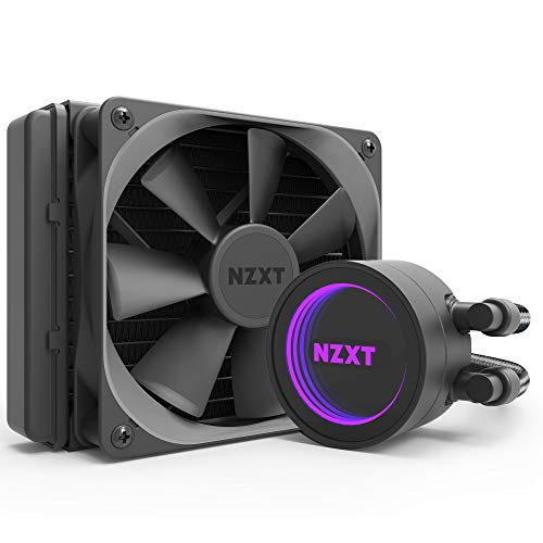 (NZXT Kraken M22 120mm - All-In-One RGB CPU Liquid Cooler - CAM-Powered - Infinity Mirror Design - Reinforced Extended Tubing - Aer P120mm PWM Radiator Fan (Included))
