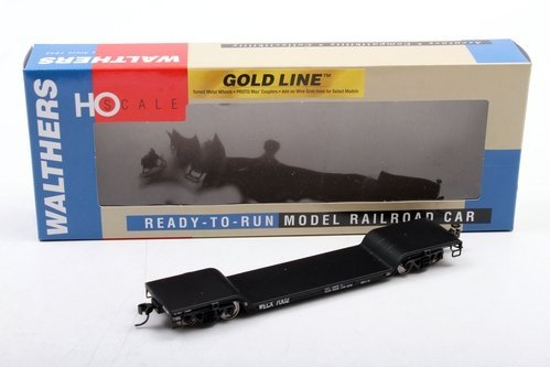 Walthers Gold Line HO Westinghouse #7002 4-Axle 90 Ton GSC Depressed Center Flat Car (932-7892)