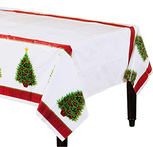 amscan Twinkling Tree Plastic Table Covers, Super Value Pack, 3 Ct. | Party Tableware