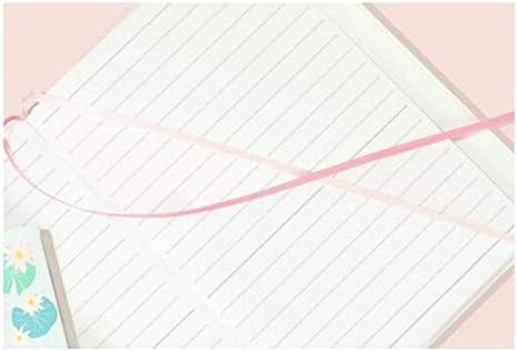 YXIAOn Simple Ins Wind-Tagebuch mit Herzmotiv, niedliche Fliege, Kirschblüten-Notizblock, Linie, Handbuch, 120 schöne Buche, glattes Schreiben rose