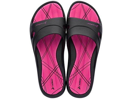VIII 20753 Schwarz Damen Ipanema pink Badeschuhe Rider Slide Feet 82214 PaTqXCw