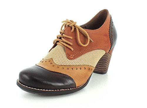 Women's leather by Step Multi L'Artiste Dress Spring Bardot Pump Brown TnUwwHxqA