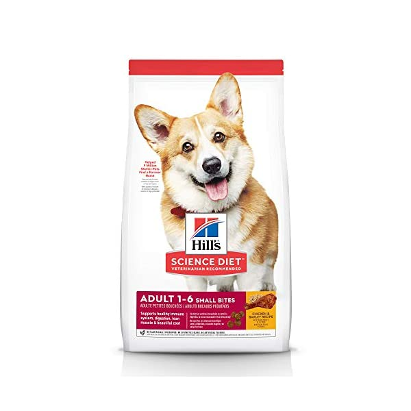Hill's Science Diet Dry Dog Food, Adult, Small Bites, Chicken & Barley Recipe, 15 LB Bag