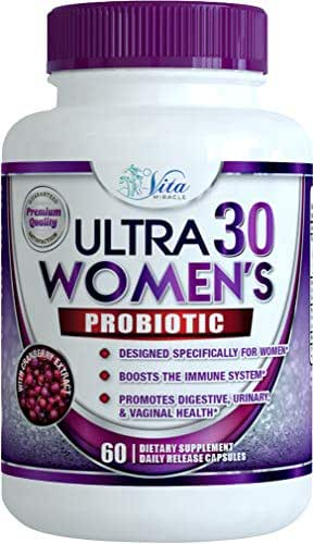 Dr Formulated Probiotics for Women - Once Daily Womens Probiotic Supplement for Digestive and Urinary Health Raw Organic Delayed Release Veggie Capsule + Prebiotics 30 Billion CFU 18 Strains