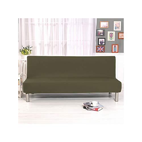 Lou Chapman Universal sin Brazos Sofa Cama Cubierta Plegable Moderna Asiento Fundas Cubre Estiramiento Couch Protector elastico Spandex Cubierta futon, Gris Verde, 2Xpiilowcase 45X45cm