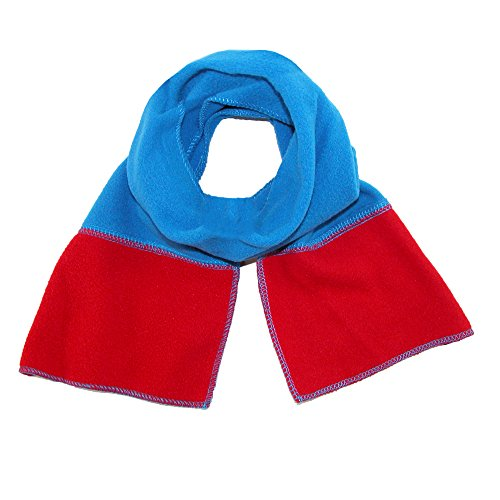 Grand Sierra Kids' Scarf with Stripe, Blue with (Red Stripe Scarf)