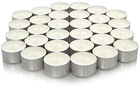 4 Hours EliteKoopers Bougies Chauffe-Plat Non parfum/ées Dur/ée de Combustion 4 Heures Blanc