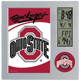 Wincraft NCAA Ohio State University Desk Clock, Black