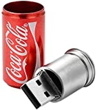 Coca Cola Style USB Flash Drive - Data Storage Device - 4GB - Color: Red - Key Ring Included