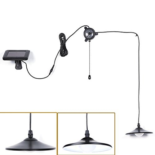 Solar Lights,Kyson Solar Powered Led Shed Light with Remote Control and Pull Cord for Indoor Outdoor Use by Kyson
