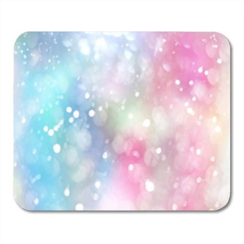 HZMJPAD Rainbow Pastel Lens Bokeh Effect Colorful Spot Blur Bubble Mouse Pad 8.6 X 7.1 ()