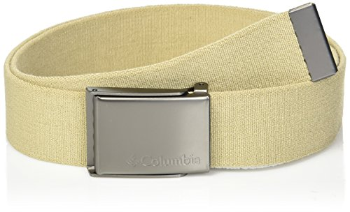 ary Web Belt - Casual for Jeans Pants Adjustable One sizee Cotton Metal Plaque Buckle,khaki, 1sizee ()