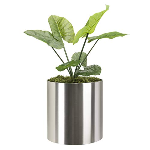 Knox Brushed Stainless Steel Planter - 18