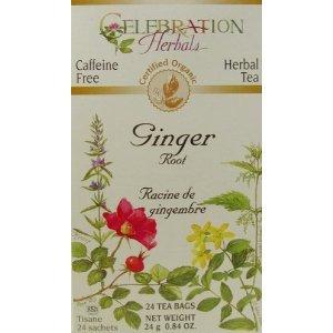 Celebration Herbals Ginger Root Tea Organic, 24 Count