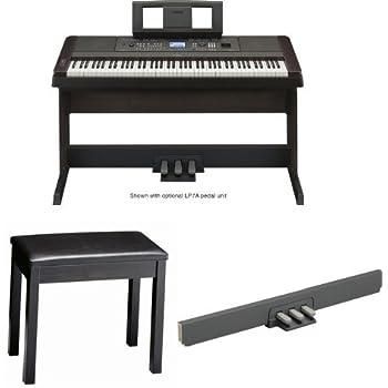 Yamaha dgx650b digital piano with padded bench for Yamaha piano pedal unit