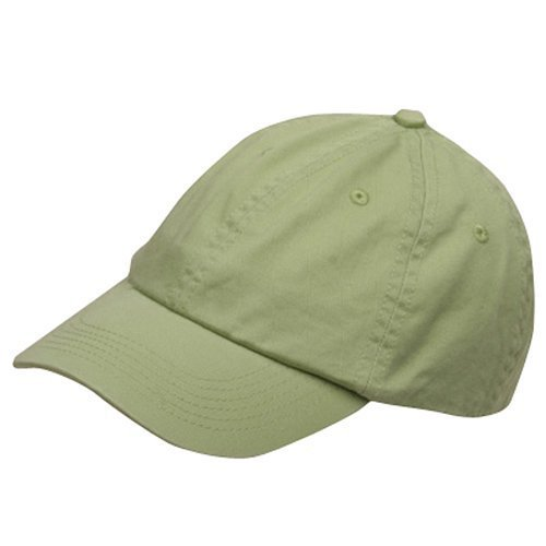 Cameo Youth Washed Chino Twill Cap-Apple Green OSFM