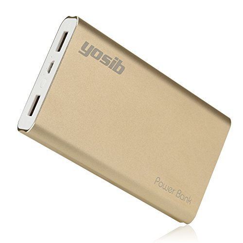 Portable Phone Charger Power Bank 10000mAh External Battery Charger Dual 2 USB Output Ports for iphone7 6s plus6, Androids,iPad, PSP Tablets and More.yosib - Case Gold Go Psp