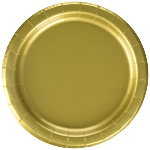 Gold Paper Cake Plates, ()