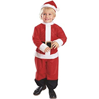 Amazon.com: Lil' Santa Costume - Toddler 1-2 years, (Size 2-4 USA ...