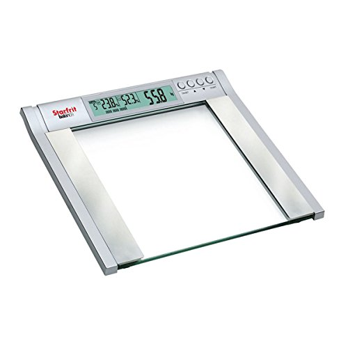 Starfrit Balance Body Fat Scale with Glass Top, Silver, 17 Inches