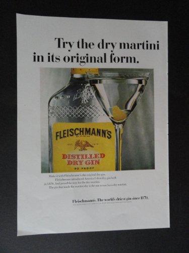 Fleischmann's Dry Gin. print ad. 8 1/4