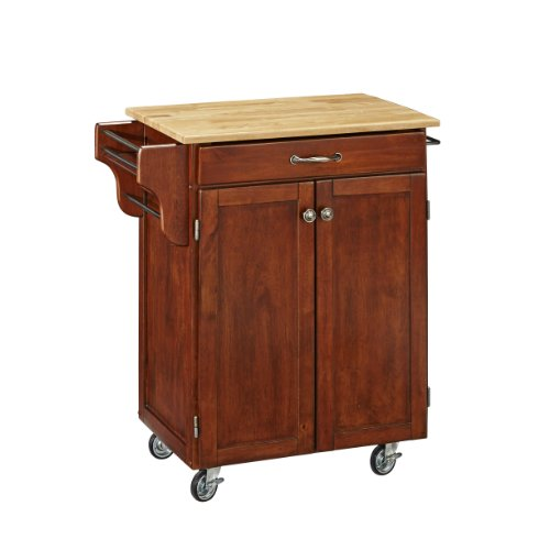 0071 Cherry (Home Styles 9001-0071 Create-a-Cart 9001 Series Cuisine Cart with Natural Wood Top, Cherry, 32-1/2-Inch)