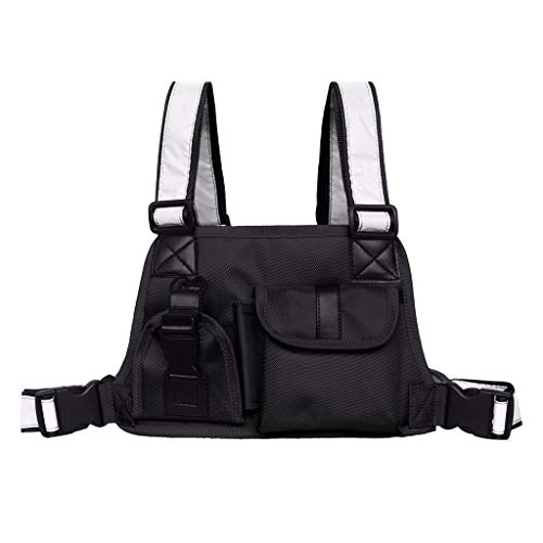 Universal Radio Chest Harness Bag Chest Front Pocket Pack Holster for Two Way Radio Walkie Talkie