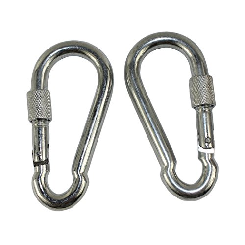 Dianoo 2 Pcs Moutaineering Buckle Multifunctional Outdoor Sports Carabiner Buckle Stainless Steel Carabiner Hook