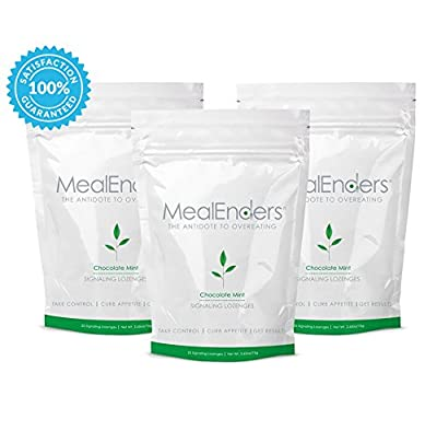 MealEnders Signaling Lozenges-Conquer Cravings, Curb Snacking, Beat Overeating, and Master Portion Control, Helps You Stick to Any Diet Weight Loss Program, 25-count Pouch (Pack of 3)