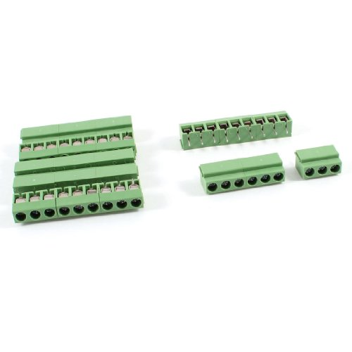 uxcell 7Pcs 9 Pole 5mm Pitch PCB Mount Screw Terminal Block 8A 250V