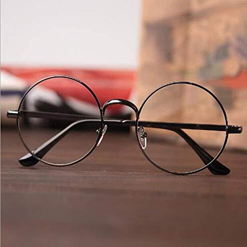 de MTSZZF Summer Unisex Gafas Redondas Sol Marco Oversized Lente Vintage Metal de Clara Geek Eyelasses Retro rnrxYqgU