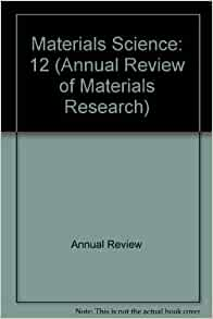 Annual review of materials research
