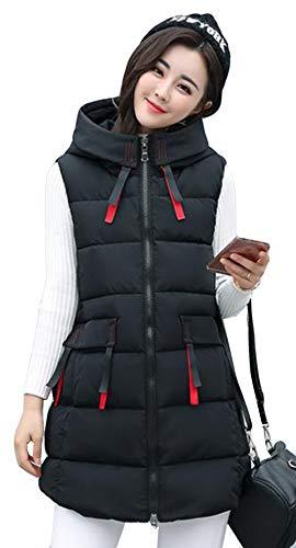 比較ペア決済Alhyla レディース ダウンベスト レディース 秋 冬 ファッション 韓国風 ベスト 中綿ベスト 無地 スリム ロングスベスト