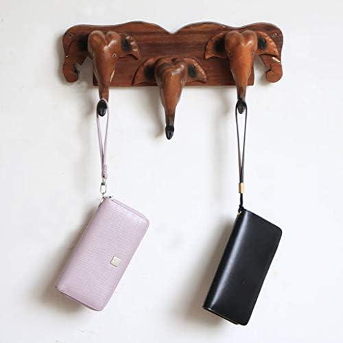 木製 ウォールハンガー 衣服フック 帽子フック キーフック 全2選択 - B