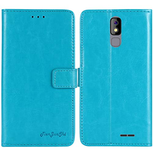 TienJueShi Blue Book Stand Premium Retro Business Flip Leather Protector Phone Case For imo s2 5 inch Cover Etui Wallet