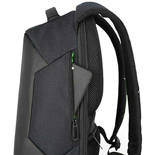 FARAZ Solar Backpack Waterproof and Anti-Theft, perfect for carrying books or laptop to work, school or hiking while charging your smart phone, tablet, or a power bank and more, Great for traveling.