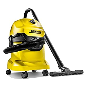Karcher WD 4 Wet and Dry Vacuum Cleaner (Yellow and Black)