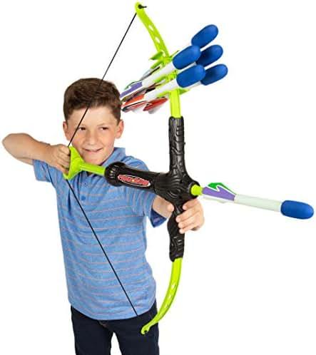 Marky Sparky Faux Bow 3 - Shoots Over 100 Feet - Foam Bow & Arrow Archery Set