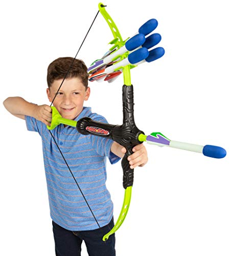 Marky Sparky Faux Bow 3 - Shoots Over 100 Feet - Foam Bow & Arrow Archery Set (Great Christmas Presents For 11 Year Olds)