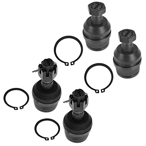 4 Piece Kit Upper Lower Ball Joint LH RH Set for Ford F150 F250 Bronco (Replacement Ball Ford Joint)